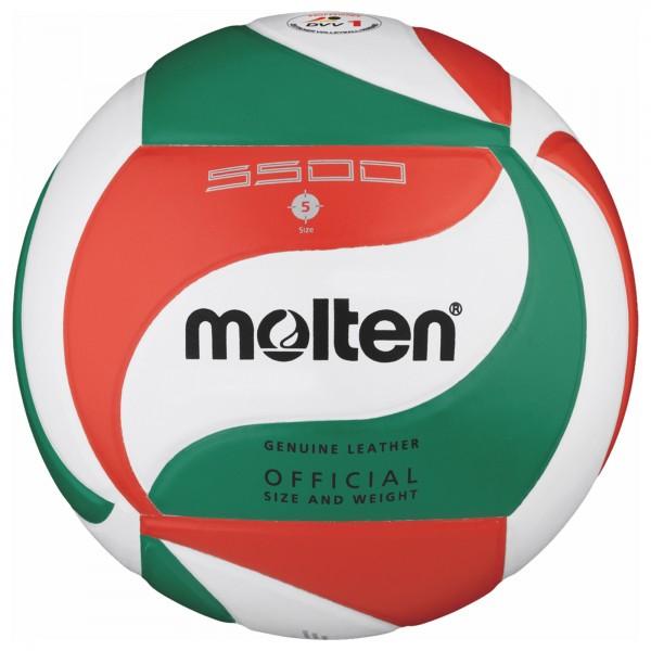Molten Volleyball-Wettspielball V5M5500 Leder