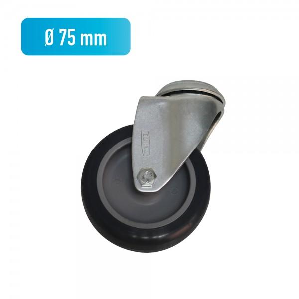 Lenkrolle für Sprungkästen, Ø 75 mm