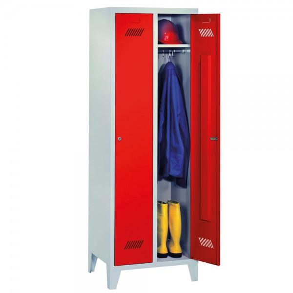 Garderobenschrank mit 15 cm hohen Füßen