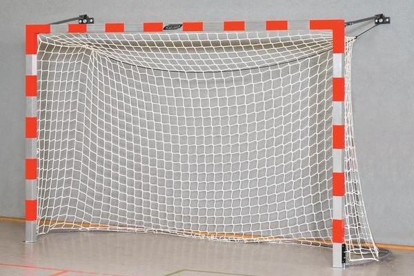 Hallenhandball-Tore mit Wandbeschlag