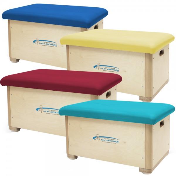 Sprungkasten klein aus Birke-Multiplex (farbig) - verschiedene Ausführungen