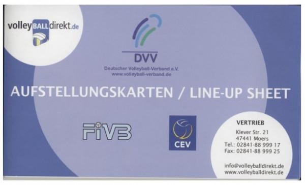 BSD - DVV Aufstellungskarten mit Libero