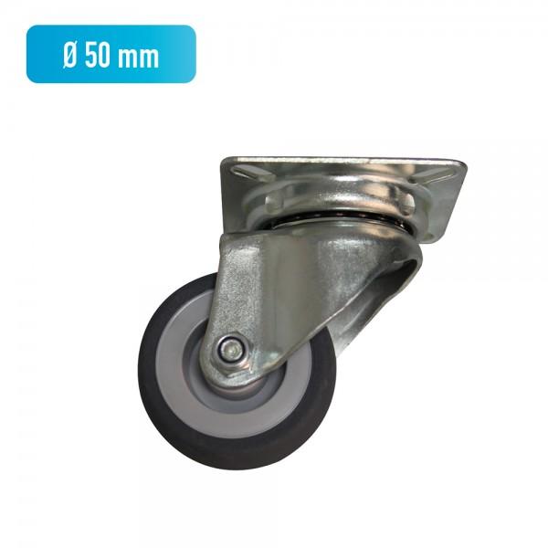 Lenkrolle mit Anschraubplatte, Ø 50 mm