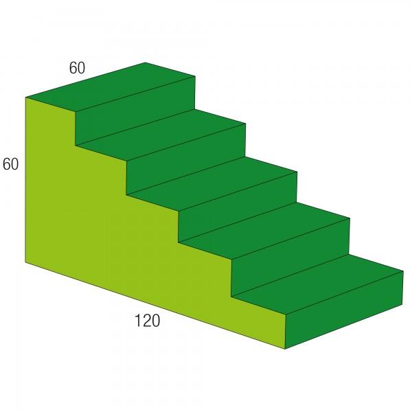 Baumodul Treppe grün/hellgrün