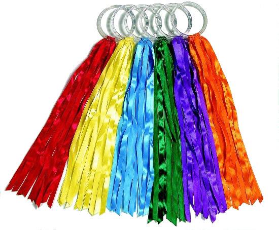 SPORDAS Regenbogen-Ringe 6er Set