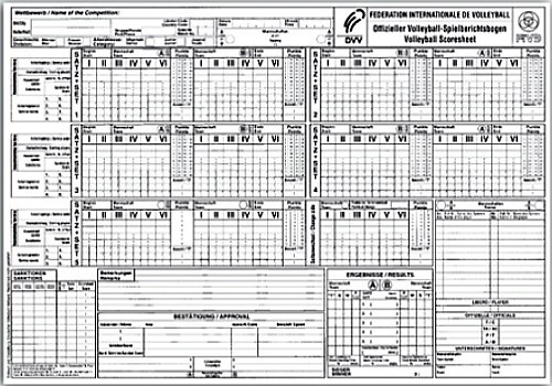 DVV Spielberichtsbogen