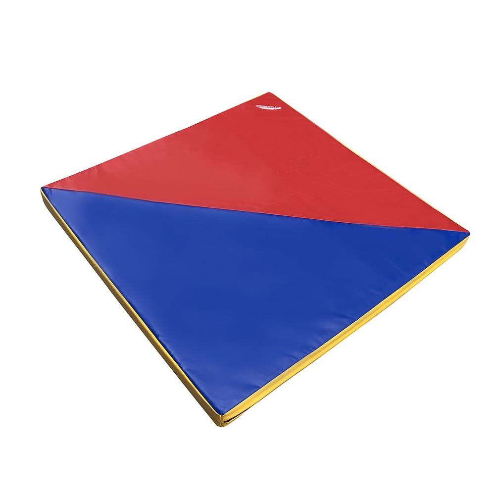 B-Ware Super-Leichtturnmatte SOFT blau/rot/gelb