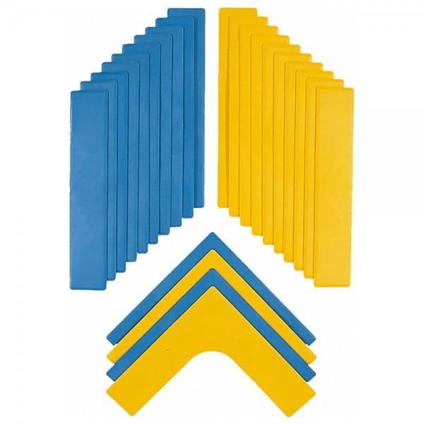 Markierungs-Set, bestehend aus Linien und Ecken