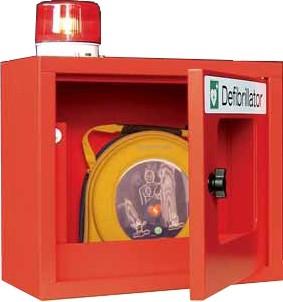 Defibrillator-Schrank mit Alarmfunktion (Sirene + Lampe)