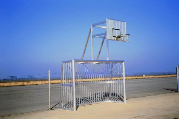 Kombi-Bolzplatztor mit Basketball-zielbrett aus Aluminium