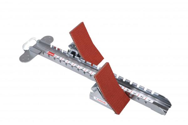 POLANIK® Wettkampf-Startblock aus Stahl mit hohen Pedalen