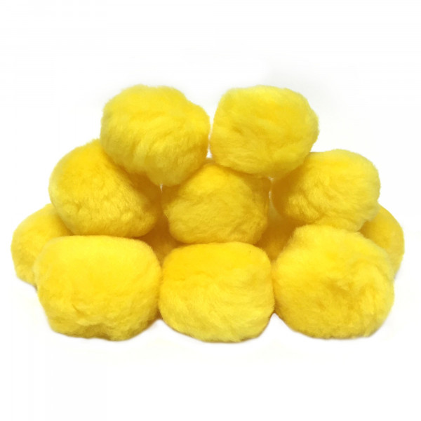 Flauschbälle, 12er Set, gelb