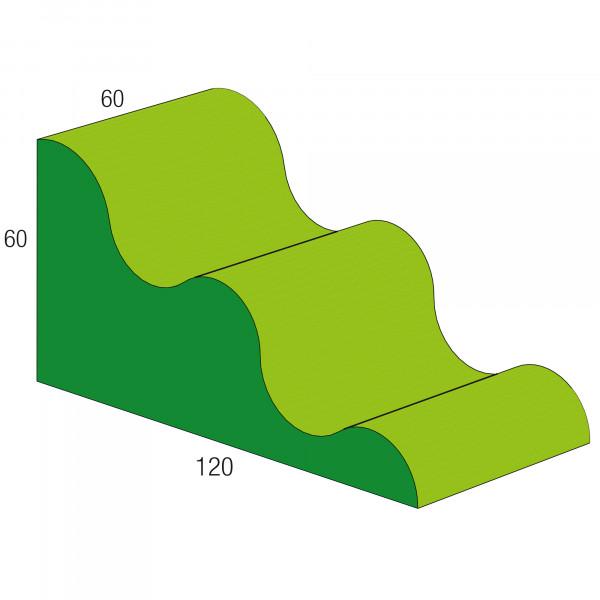 Baumodul Wellenkeil groß