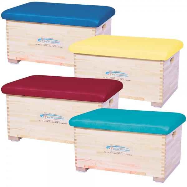 Sprungkasten klein aus Kiefernholz (farbig) - verschiedene Ausführungen