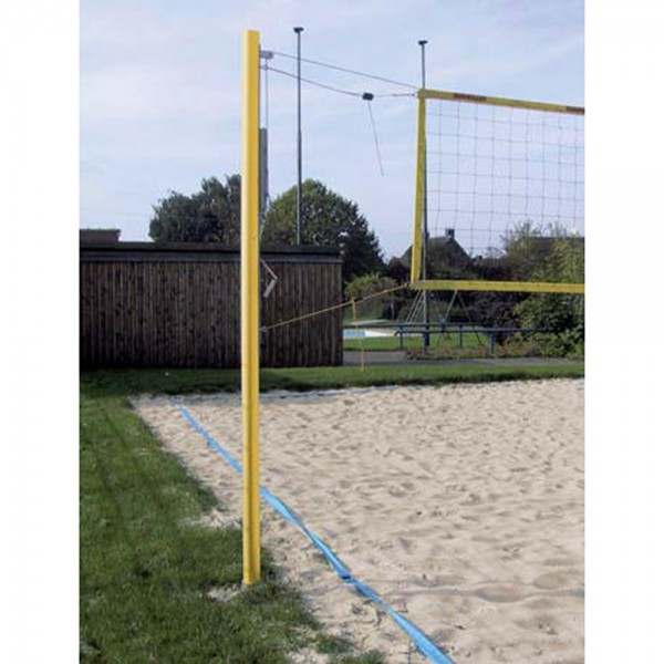 Stationäre Beach Volleyball Anlage, pulverbeschichtet, gelb
