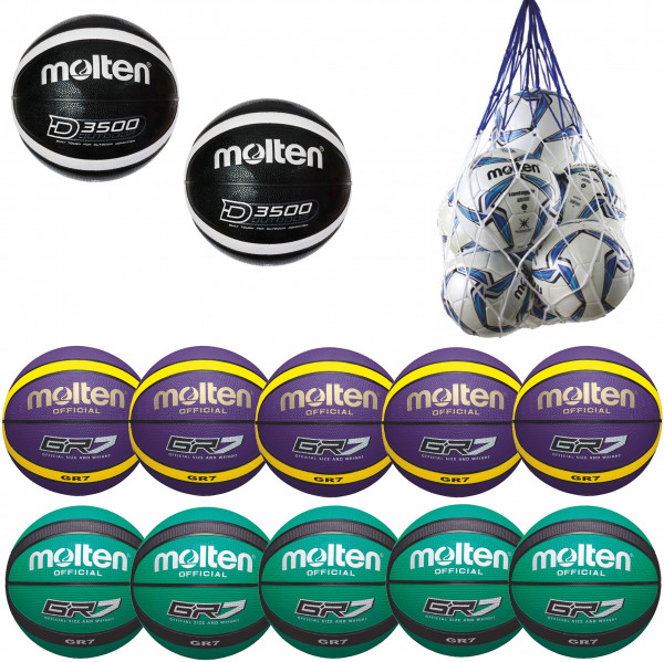 Molten Basketball-Sparpaket Outdoor Gr. 3
