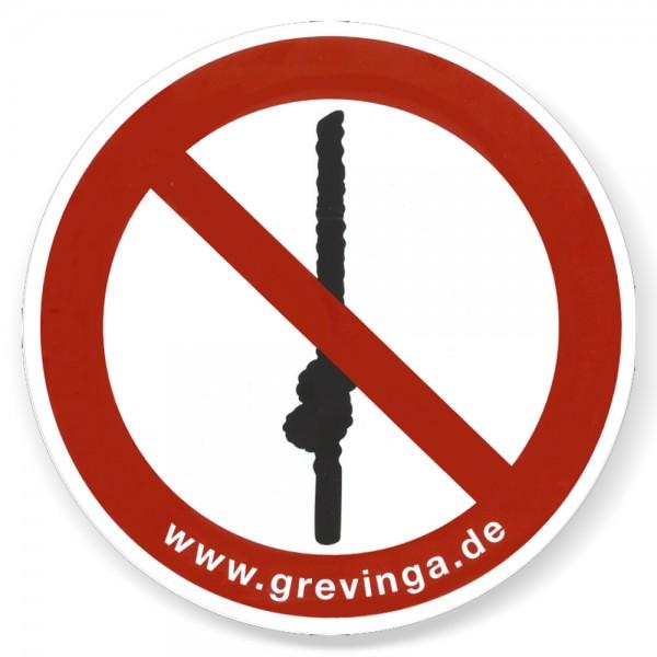 Schild -Klettertaue knoten verboten-